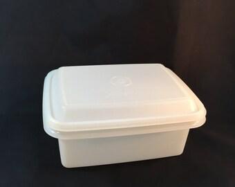 Vintage Tupperware Freeze N Store Sheer White Ice Cream Keeper