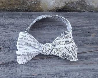 Newsprint Bow Tie - Free Style