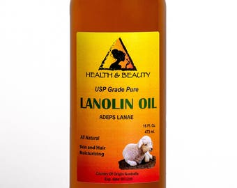 16 oz LANOLIN OIL USP Grade 100% Pure Skin Hair Moisturizing