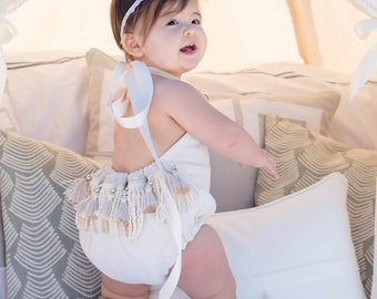 Baby Romper Baby Girl Clothing Beach Romper Playsuit Birthday Girl Gypsy romper Boho Romper Jumper Newborn Toddler Boho Baby Shower Bohemian