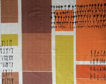 Mid Century LUCIENNE DAY PLANTATION Heals Vintage 1960's Heals Fabric Britain Furnishing Robin Day Eames Mahler
