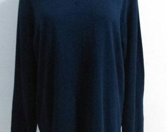 Vintage Land's End Sweat Shirt Turtlenecks Sweater Made In El Salvador