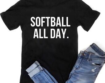 Summer nights and ballpark lights Summer shirt Softball mom