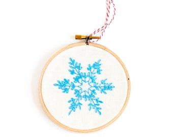 snowflake ornament - christmas snowflake decorations - blue christmas decorations - unique christmas ornaments  - christmas tree ornaments