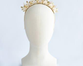 Bridal Crown   CLEMENTINE   - Bridal Tiara, Crown, Bridal headpiece, Wedding Accessories, Wedding headpiece,