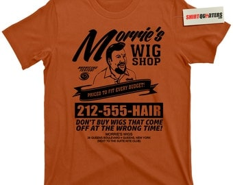 Morrie's morries Wig Shop Wigs Goodfellas Billy Batts Joe Pesci Tommy DeVito The Godfather 2 Chicago Mob Mafia trilogy gangster tee T Shirt