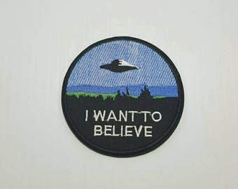 X-Files I Want To believe retro iron on patch applique