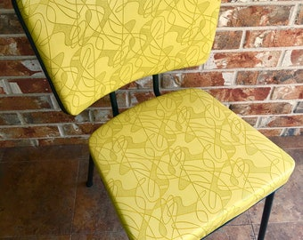 Retro Brody Tru-Chrome bright yellow chair