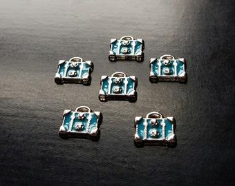 Suitcase Luggage Floating Charm for Floating Lockets-Gift Idea