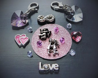 Valentine's Day Floating Charm Set for Floating Lockets-Gifts for Her-Gift Ideas for Women