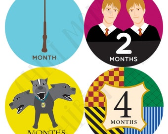 Harry Potter Month Stickers, Harry Potter Monthly Stickers, Harry Potter Stickers, Harry Potter Baby, Harry Potter Shower, Harry Potter Gift