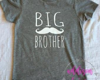 2 designs -Big Brother Shirt or bodysuit- arrow or mustache