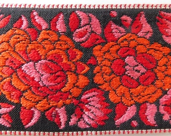 "Vintage Jacquard Ribbon Trim | 2"""" Inch Woven Jacquard Ribbon 