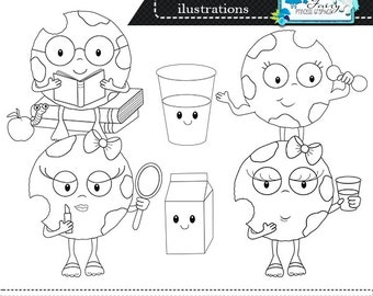 Digital Stamps, Little cookies Digistamps, digistamps, digi stamps, line art, coloring pages