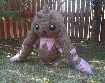 Digimon Inspired:  Life-Size Lopmon Amigurumi (Crochet Plushie/Plush Toy) - MADE TO ORDER!