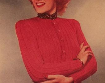 Kitting Pattern, 40/50s ladies Cardigan