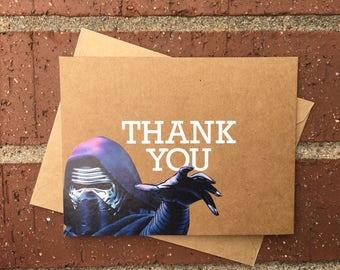 Star Wars - Kylo Ren Thank You Card / Comic Book Greeting Card (Blank)