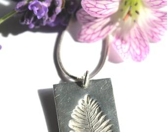 Silver fern necklace, fern leaf necklace, silver fern, fern print, silver leaf necklace, fern jewelry, fern jewellery