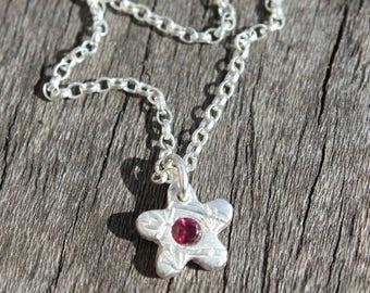 Silver flower ankle bracelet, silver anklet, tiny silver charm anklet, boho silver anklet, silver ankle jewellery jewelry, beach anklet