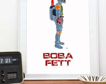 Star Wars Boba Fett Patent Print, 8x10 & up, Blueprint, Star Wars Poster, Star Wars Patent Art, Star Wars for boys Patent, Boba Fett Poster