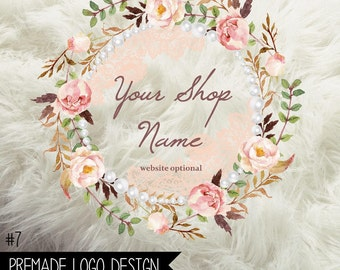 7. Premade Business  Logo Digital File 300dpi PNG file, personalized with your shop name