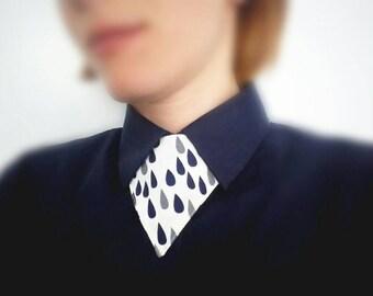 SALE Triangle unisex shirt tie, geometric necklace, unique neckline, unisex bow tie alternative, statement necklace, collar accessories, tie