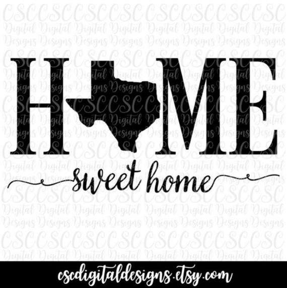 home sweet home clipart black and white. texas svg home sweet cutting file svg instant download silhouette cut dfx pdf png clipart black and white
