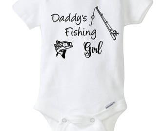 Reel girls fish pink baby onesie fishing baby clothes for Fishing shirt onesie