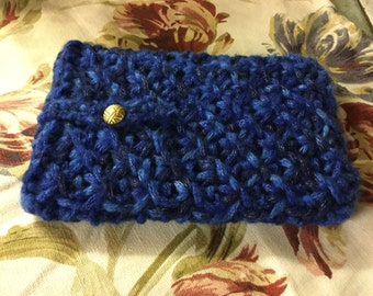 Hand knitted Apple iPad mini protective cover.