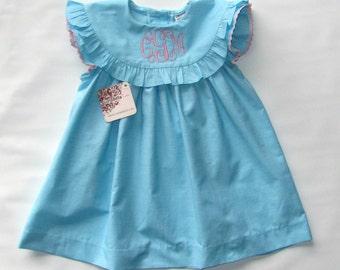 Easter Dress Toddler, Girls Easter Dress, Monogram Dress Girls, Monogrammed Dress, easter Dress, Summer Dress, Toddler Dress,  4T,5T,6T