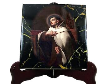 Religious gifts - Saint John of the Cross - catholic icon on ceramic tile, St John of the Cross, catholic gifts, saints, religious art