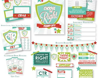 2017 LDS Primary Theme Bundled Pack - Choose the Right  - Printable Kit