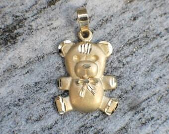 14K Vintage Teddy Bear Charm