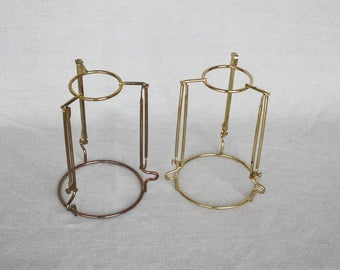 brass bottom bell set of 2 scallop lamp shade victorian lamp shade frame vintage wire lamp salvage lamp brass shade frame wire lamp shade