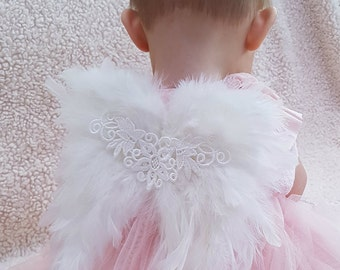 Feather wings Handmade Photography Prop Sitter & Newborn Size  Fairy Wings Cherub Wings
