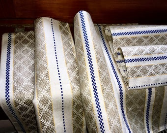 3 XL UNUSED Pure linen dish towels/table runners, 120cm long/3.94 feet and excellent quality 100% pure linen