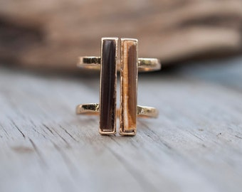 Petrified Wood Ring - Size 6.5