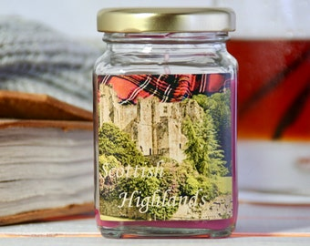 Scottish Highlands Jar Candle – 4 oz. ParaSoy Container Candle – Enchanted Series – Category 5 Original Blend