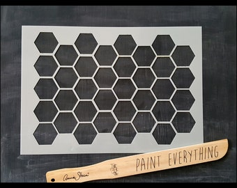 Honeycomb Pattern Reusable Stencil