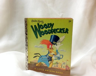 Woody Woodpecker Joins the Circus by Walter Lantz, a Little Golden Book, vintage 1952