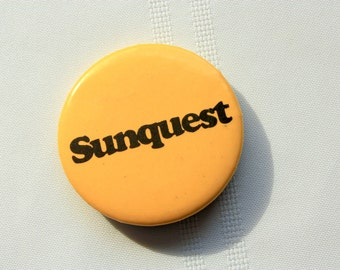 Sunquest Pin Back, Sunquest Vacations Pin Back, Travel Company