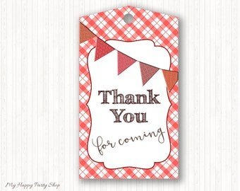 Barbeque Favor Tags, BBQ Favor Tags, BBQ Birthday, Baby-Q Thank You Tags, BBQ Thank You Tags, Instant Download - Printable - BSU020R