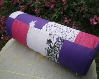 pink Bolster -  Patchworkpillow - handmade Pillow - Decopillow - homedecor