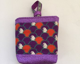Purple Sparrows Handmade Craft / Knitting Bag