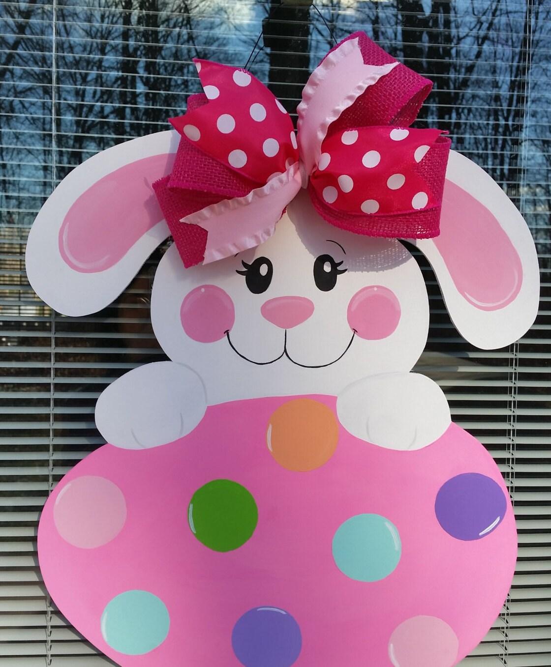 Bunny Door Hanger Easter Door Hanger Easter Bunny By