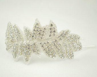 "Bridal Headband ""Hollywood"" Vintage style Side Tiara - Head Piece - Hollywood Glamour - Wedding headpiece -"