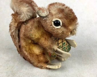 "vintage mohair squirrel, vintage toy, Steiff squirrel ""Perri"""