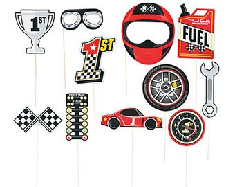 Race Car Theme Props For Photo Booth