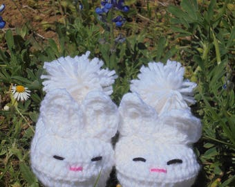 Bunny Slippers, Infant Bunny Slippers, Toddler Bunny Slippers, Child Bunny Slippers, Easter shoes,