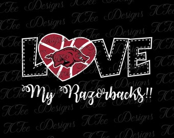 Love My Razorbacks - Arkansas Basketball - Basketball SVG File - Vector Design Download - Cut File
